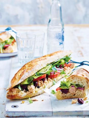 Tuna & olive baguettes