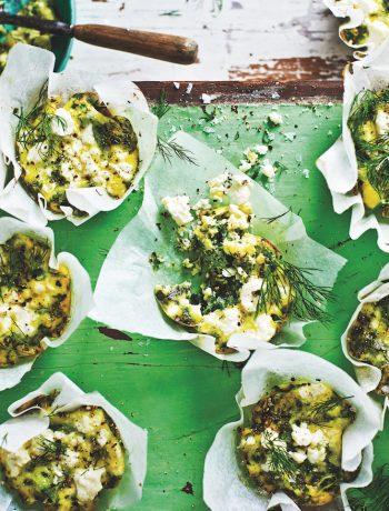 Mini green frittats
