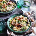 Prawn, rosemary and corn risotto