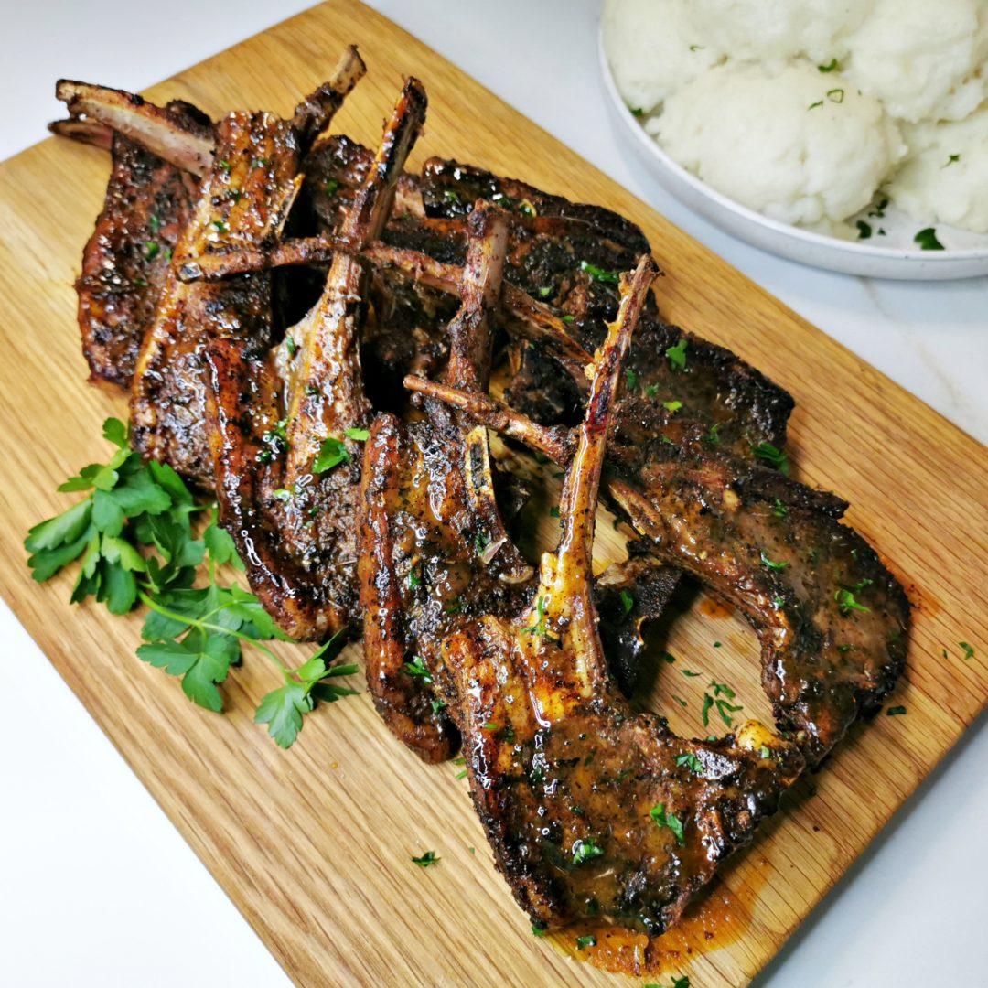 Pan Seared Lamb Chops Shisa Nyama